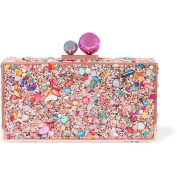 Sophia Webster - Clara Crystal embellished metal clutch