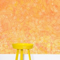 'Yellow and orange swirls doodles' Wallpaper by Savousepate on miPic