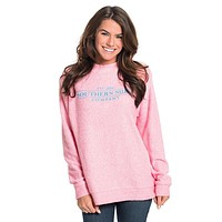 Heather Loop Knit Terry Pullover in Himalayan Pink by The Southern Shirt Co. - FINAL SALE