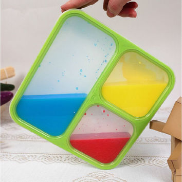 Japan Style Compartment Seal Portable Plastic Lunch Box Bento Box For Kid Lancheira Thermos For Food With Container