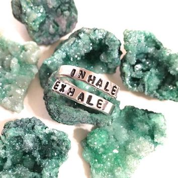 Breathe Ring in Silver - Inhale Exhale Ring