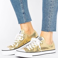 Converse Chuck Taylor Metallic Ox In Snake Leather at asos.com