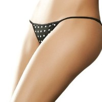 Amazon.com: Besame High Quality Black Sexy Dots Thong #SL4417 Made in Colombia: Clothing