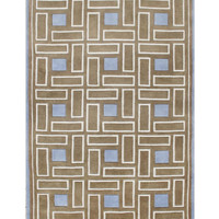 Michael Anthony Furniture Hand Tufted 8x10 Brown Sugar Wool Rug