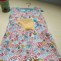 Hidden Garden ecological dress, US size 3T, dress with pocket