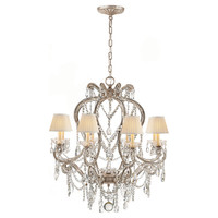 One Kings Lane - Celebrating 30 Years of Ralph Lauren Home - Small Adrianna Chandelier, Silver Leaf