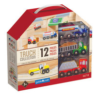 Guidecraft Wooden Truck Collection Set of 12 - G6718
