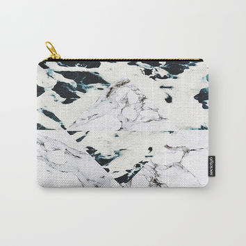 Ocean + Marble Carry-All Pouch by cadinera