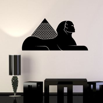 Vinyl Wall Decal Egyptian Pyramids Sphinx Egypt Stickers Unique Gift (ig4141)