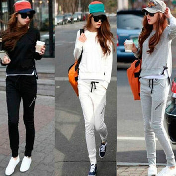Hoodies Jacket Autumn Korean Women's Fashion Long Sleeve Casual Sportswear Set [6572717447]