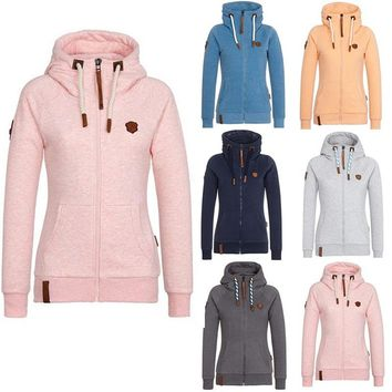 Women Hoodies Autumn Hooded Sweatshirts High Collar Hooded Cotton Coat Jackets Plus Fleece Hoodies Plus Size 5XL 816352