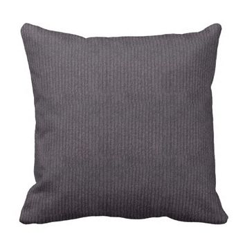 Modern Abstract Grey Linen Pattern Throw Pillow