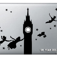 Peter Pan Macbook Decal,Macbook Pro/Air/Ipad Stickers,Macbook Decals,Macbook Pro/ Macbook Air/laptop sticker-083