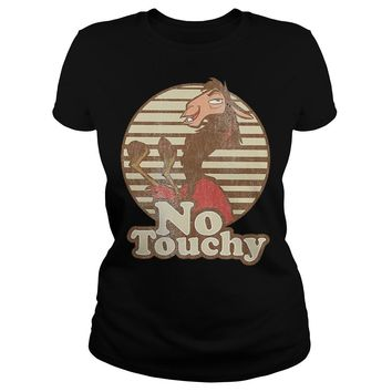 Disney Emperor's New Groove Kuzco Llama no touchy shirt Ladies Tee
