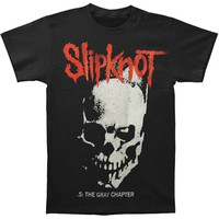 Slipknot Men's  Skull And Tribal T-shirt Black