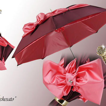 Marchesato Pink Bow Umbrella