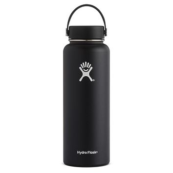 40 oz Wide Mouth Hydro Flask - Black