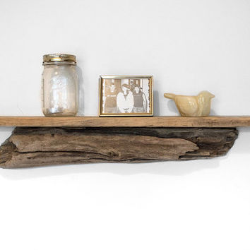 Driftwood Shelf - Reclaimed Wood Shelf - Driftwood Home Decor - Coastal Decor - Beach House - Nautical - Beach Home - Unique Shelving