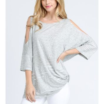 Fresh Air Cold Shoulder Tee