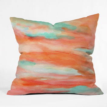 Rosie Brown Sunset Sky Outdoor Throw Pillow
