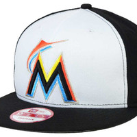 Miami Marlins MLB 2 Tone Link 9FIFTY Snapback Cap