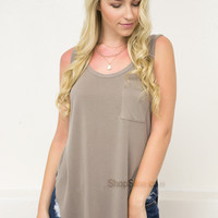 Casual Summer Tank | Taupe