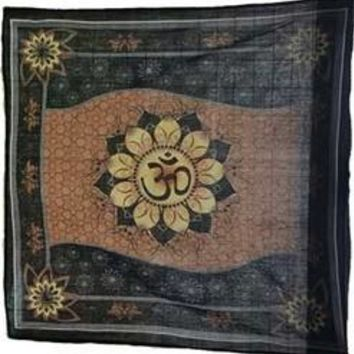 "36"" x 36"" Om Lotus altar cloth"