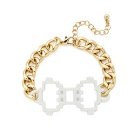 Pretty in Pixels Bow Bracelet - White