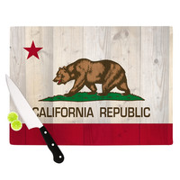 "Bruce Stanfield ""California Flag Wood"" Brown Cutting Board"