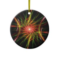 Red green star - Ornament