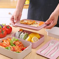 2/3 Layers Portable Bento Lunch Box Food Container Microwavable For Kids School Outdoor Picnic