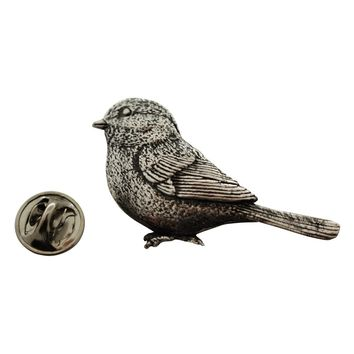 Chickadee Pin ~ Antiqued Pewter ~ Lapel Pin