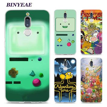 BINYEAE Adventure Time Beemo Jake Finn Lumpy Style Clear Soft TPU Phone Cases for Huawei Mate 10 9 S 10Pro P8 P9 P10 Lite 2017