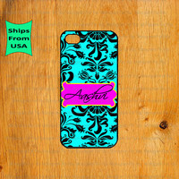 Flower Pattern Monogram iPhone 5s Case, Cover for iPhone 5 5s, iPhone 5 cover, Cute iPhone 5 Case