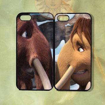 Ethan and peaches Couple Case Ice Age-iPhone 5, iphone 4s, iphone 4, ipod 5, Samsung GS3-Silicone Rubber or Hard Plastic Case, Phone cover