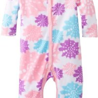 Calvin Klein Baby-Girls Newborn Pink and Printed Coverall, Multi, 6-9 Months