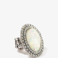 Iridescent Crackled Oval Ring