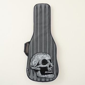 The Skull -Black & White Guitar Case