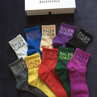 Balenciaga Lurex Socks - Boxed
