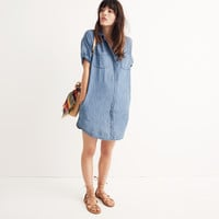 Denim Courier Shirtdress in Lauryn Wash : shopmadewell denim dresses | Madewell
