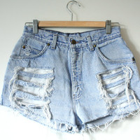 Sale - High Waisted Native Blue's Levis Shorts