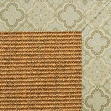 Cognac Sisal Rug with Medallions tapestry Border