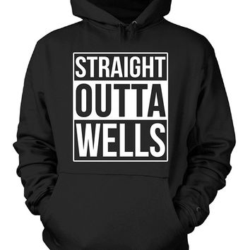 Straight Outta Wells County. Cool Gift - Hoodie
