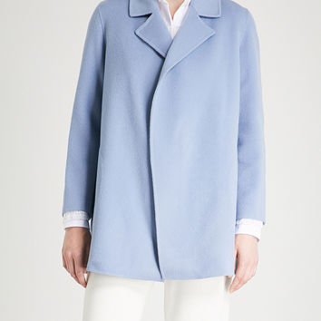 THEORY Clairene open-front wool and cashmere-blend jacket