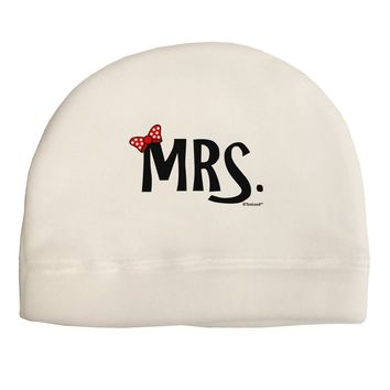 Matching Mr and Mrs Design - Mrs Bow Adult Fleece Beanie Cap Hat by TooLoud