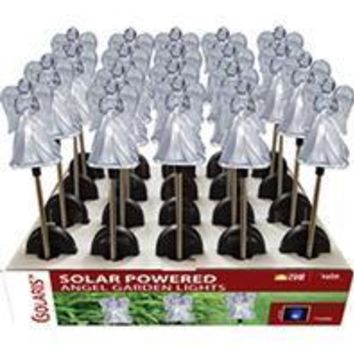 Alpine Corporation - Solar Angel Garden Stake With Blue Led Light