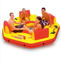 Intex  pacific   paradise  lounge Marine intex-58286 chaise lounge water floating row floating bed water