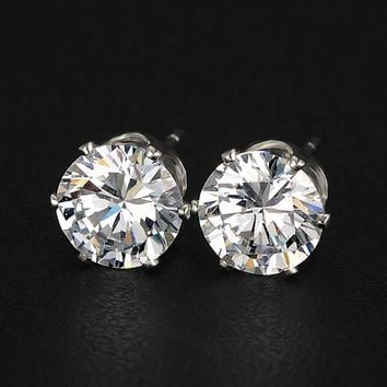 17KM Brand Design New hot Fashion Popular Luxury Crystal Zircon Stud Earrings Elegant earrings jewelry for women