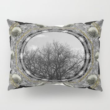 Metal power on Mother Earth Pop Art Pillow Sham by Pepita Selles