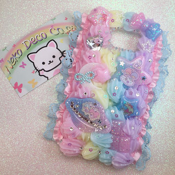 Ready to Ship! Samsung Galaxy S7 Little Twin Stars Rainbow Decoden Case